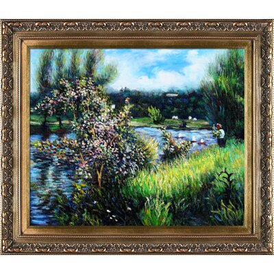 Tori Home The Seine at Chatou by Renoir Framed Original Painting