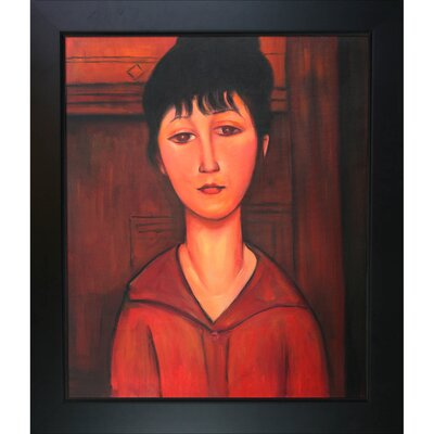 Tori Home Head of Young Girl by Modigliani Framed Original Painting