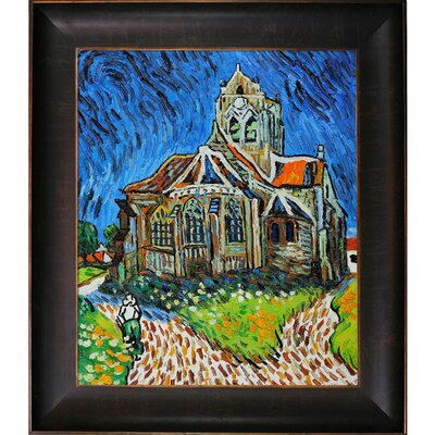 Tori Home The Church at Auvers by Van Gogh Framed Original Painting