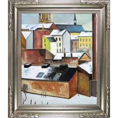 The Church of St. Mary in Bonn in Snow Macke Framed Original Painting