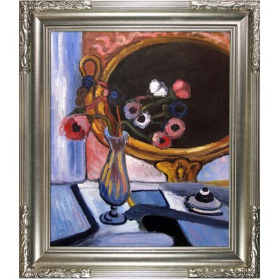 Tori Home Anemone and Mirror Matisse Framed Original Painting