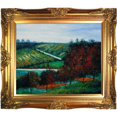 Tori Home Apple Trees in Bloom at Vetheuil 1887 Canvas Art