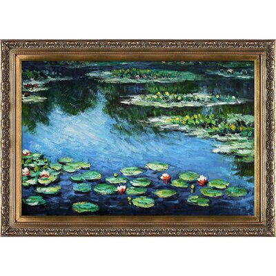 Tori Home Water Lilies by Monet Framed Original Painting