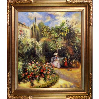 Tori Home The Garden at Pontoise Pissarro Framed Original Painting