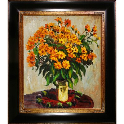 Tori Home Vase of Chrysanthemums Canvas Art