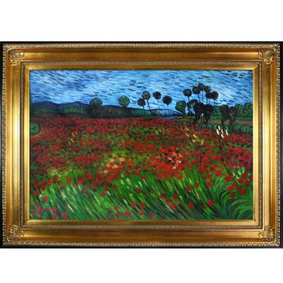 Tori Home Van Gogh Field of Poppies Canvas Art