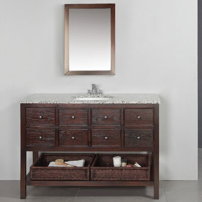 "Simpli Home Burnaby 48"" Bathroom Vanity Set"