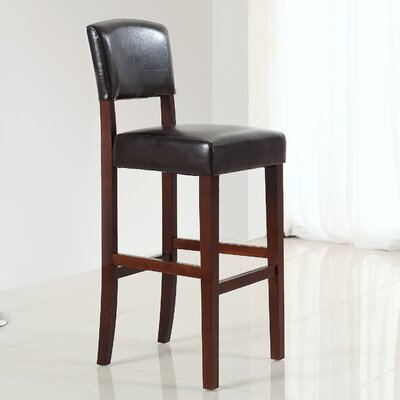 "Simpli Home Avalon 29"" Bar Stool with Cushion"