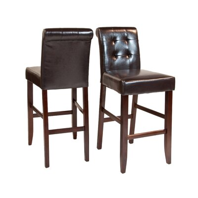 "Simpli Home Cosmopolitan 29"" Bar Stool with Cushion"