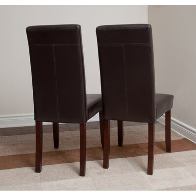 Simpli Home Acadian Parsons Chair (Set of 2)