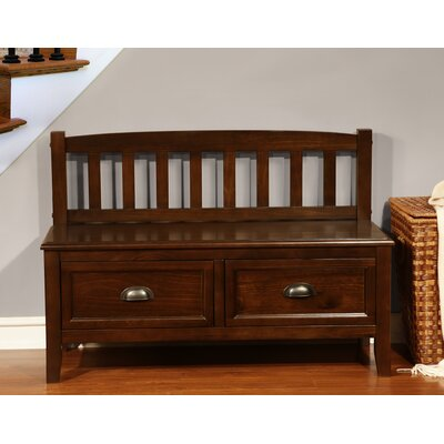 Simpli Home Burlington Wood Storage Entryway Bench with Drawers