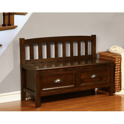 Simpli Home Burlington Wood Storage Entryway Bench with Drawers