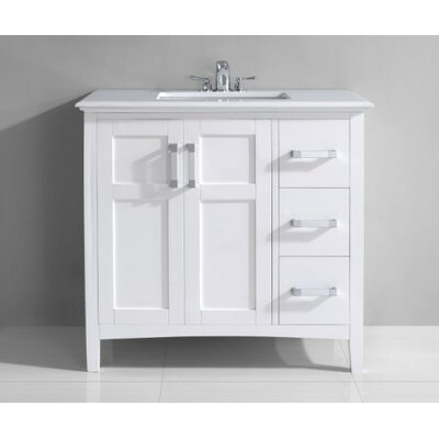 "Simpli Home Winston Single 36"" Bathroom Vanity Set"