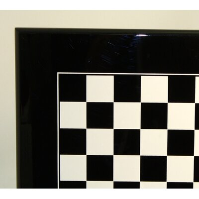 Ital Fama Wood Chess Board in Black / White