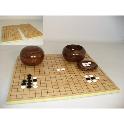 "Play All Day Games 0.31"" Stone Go Set with Slotted Chess Board"