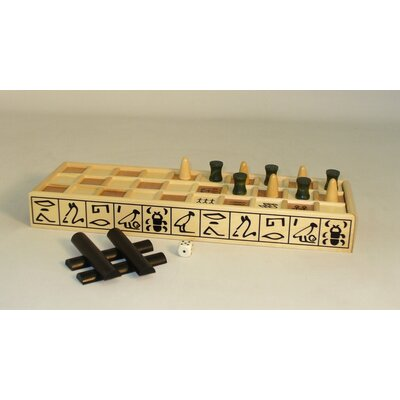 Play All Day Games Wood Senet Game