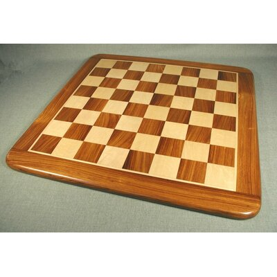 "Pleasantime 15"" Sheesham and Maple Thick Veneer Chess Board"