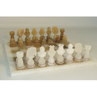 Transparent Chess Set in Brown / White