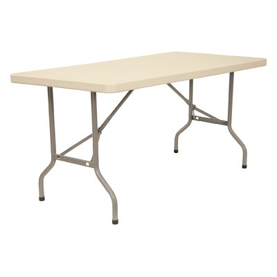 "KFI Seating 60"" x 30"" Blow-Molded Folding Table"