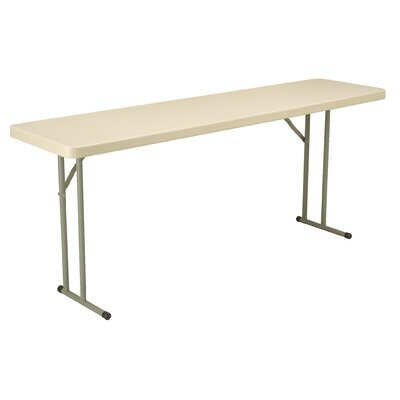 "KFI Seating 18"" x 72"" Blow-Molded Folding Table"