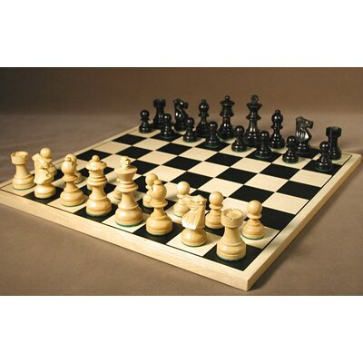 Black French on Silkscreen Chess Board