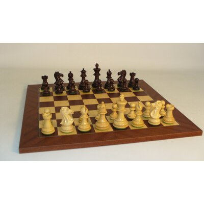 Walnut Stained Exclusive on Mahogany Chess Board