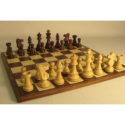 WorldWise Chess Sheesham French on Walnut Chess Board