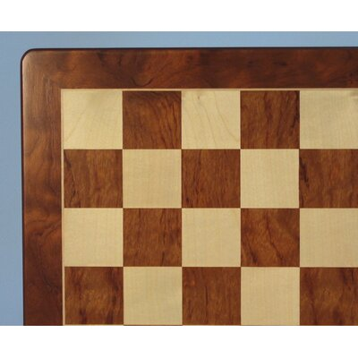 "WorldWise Chess 15"" Padauk and Maple Veneer Chess Board"