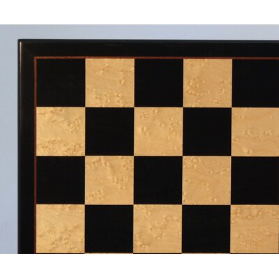 "WorldWise Chess 17"" Black and Birdseye Maple Veneer Chess Board"