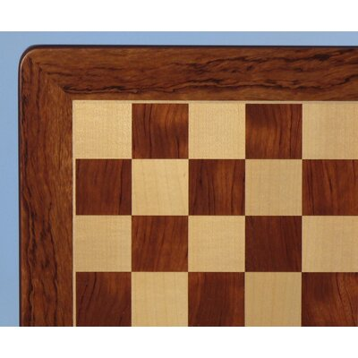"WorldWise Chess 21"" Padauk and Maple Veneer Chess Board"