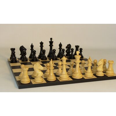 Ebony Chevalier on Black / Maple Chess Board
