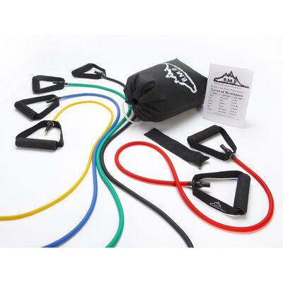 Black Mountain Products Chin Pull Up Bar and 5 Resistance Bands