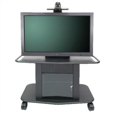"Avteq Plana Series 32"" Tall Metal Plasma Cart - Holds a 42"" to 50"" Screen"