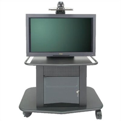 "Avteq Plana Series 32"" Tall Metal Plasma Cart - Holds a 42"" Screens"