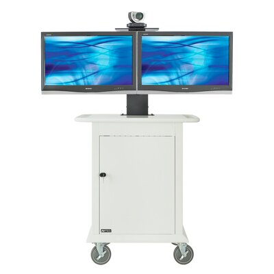 "Avteq Medical Video Conferencing Stand for Dual 32"" Monitors"