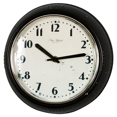 "Control Brand 9.63"" Wall Clock in Antique Black"