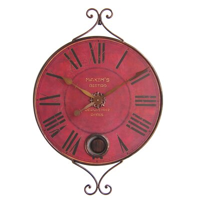 Control Brand New Haven Oversized Metal Vintage Pendulum Clock