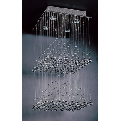 The Pyramid 4 Light Crystal Chandelier