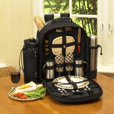 London Coffee / Picnic Backpack for Two