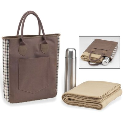 Coffee Blanket Tote in Brown