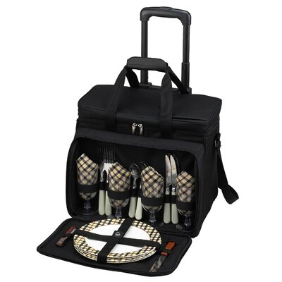 London Picnic Cooler for Four with Wheels