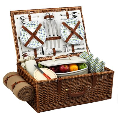 Picnic At Ascot Dorset Basket for Four with Blanket in Gazebo