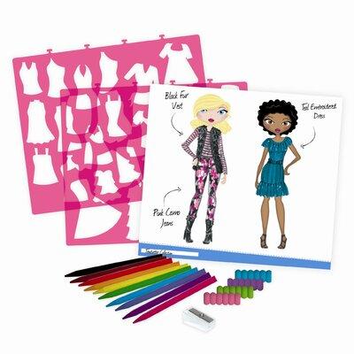 Fashion Angels Project Runway Fashion Design Sketch Portfolio With Pencils Reviews Wayfair