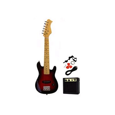 Stedman Pro Kids Electric Guitar in Transparent Red