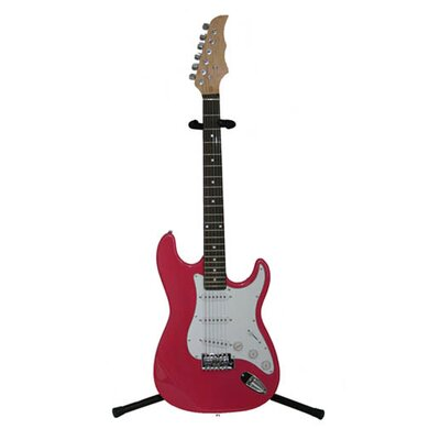 Electric Guitar with Gig Bag and Cable in Pink