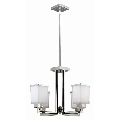 Z-Lite Affinia 4 Light Chandelier with Glass Shade
