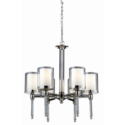 Z-Lite Argenta 6 Light Chandelier in Chrome