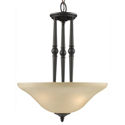 Z-Lite Clayton 3 Light Inverted Pendant