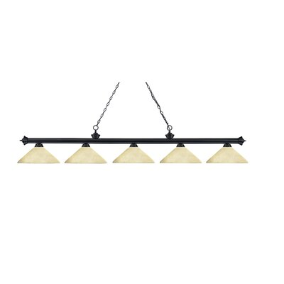 Riviera 5 Light Billiard Pendant