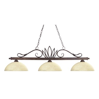 Crown 3 Light Billiard Pendant
